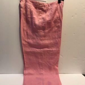 Pink  linen Capris Ralph Lauren pants